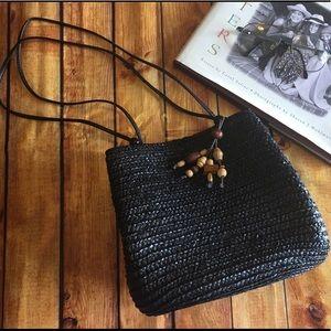 Croft & Barrow Black Basket Weave Shoulder Bag